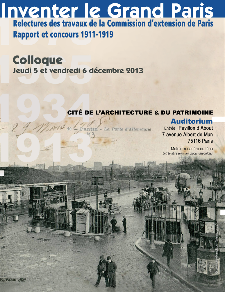 colloque <em>Inventer le Gand Paris</em>